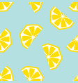 seamless lemon geometric pattern vector image vector image
