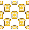 seamless pattern with toasts and fried eggs vector image
