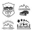 Set logos Cityscalper New York California vector image