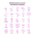 set of 25 feminish business finance flat color vector image