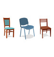 set of different chairs for home and vector image vector image