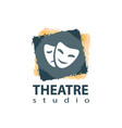 set of theater studio logo design vector image vector image