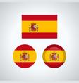spanish trio flags vector image