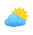sun disappeared behind a cloud vector image