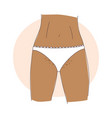 teenage girl and pubic hair wears white vector image