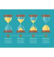 Transparent sandglass icon set infographic vector image