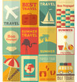 Travel Posters Set vector image vector image