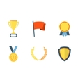 Trophy and awards flat icons vector image vector image