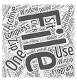 Understanding Compression Word Cloud Concept vector image vector image