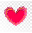 valentines day papercut heart for valentine vector image vector image