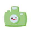 vintage photographic camera cute kawaii cartoon vector image