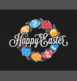 easter eggs vintage design background vector image