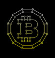 bitcoin technology abstract sign vector image
