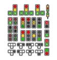 Set of Types Traffic Lights vector image