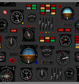 airplane instrument panel aircraft dashboard vector image vector image