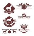 Animal Retro Vintage Logo Set vector image vector image