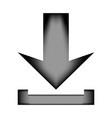 arrow download icon sign vector image vector image