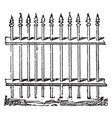 bars fence vintage engraving vector image vector image