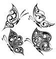 Black butterflies vector image vector image