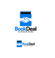 book deal logo designs template business book vector image vector image