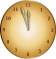 bronze clock vector image vector image