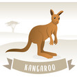 brown cute kangaroo vector image vector image