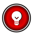 Bulb icon on white background vector image vector image