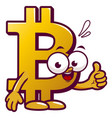 cartoon bitcoin vector image