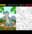 cartoon tyrannosaurus coloring book vector image vector image