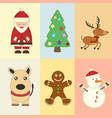christmas and new year elements vector image vector image