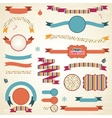 Christmas Ribbons Labels Set vector image vector image