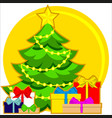christmas theme bright colorful poster with xmas vector image