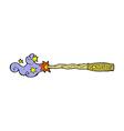 comic cartoon magic wand vector image vector image