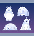 cute polar bear - modern cartoon characters vector image