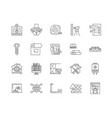 eaport line icons signs set outline vector image vector image
