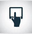 finger touch screen icon simple flat element vector image
