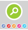 Flat game graphics icon zoom vector image