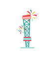 free fall or drop tower extreme funfair vector image vector image