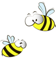 funny cartoon bees vector image vector image