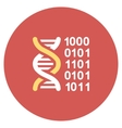 Genetical Code Flat Round Icon vector image vector image