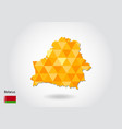 geometric polygonal style map of belarus low poly vector image