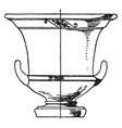 greek krater is a type antique vase vintage vector image vector image