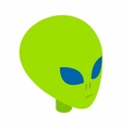 Green alien head 3d isometric icon vector image