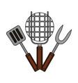 grill barbecue fork spatula vector image