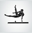 gymnastics with man at pommel horse clipart vector image vector image