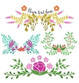 Hand Drawn Floral Compositions vector image vector image