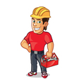 Handsome Construction Worker vector image vector image
