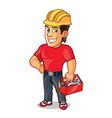 Handsome Construction Worker vector image vector image