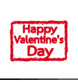happy valentines day lettering background design vector image