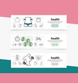 healthy lifestyle horizontal banners vector image vector image